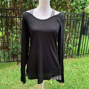 Mark New York Performance Cold Shoulder Top size L